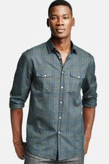 John Varvatos Check Cotton Shirt - Lyst
