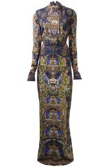 Just Cavalli Cut Out Maxi Dress - Lyst