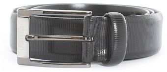 Lagerfeld Textured Leather Belt Black - Lyst