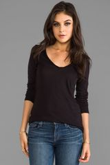 Lanston Long Sleeve V Neck in Black - Lyst