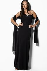 Lauren by Ralph Lauren Dress Strapless Gathered gbodice Dress - Lyst