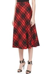 Michael Kors Fairfax Plaid A-Line Skirt  - Lyst