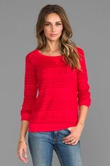 Splendid Fair Isle Sweatshirt in Red - Lyst