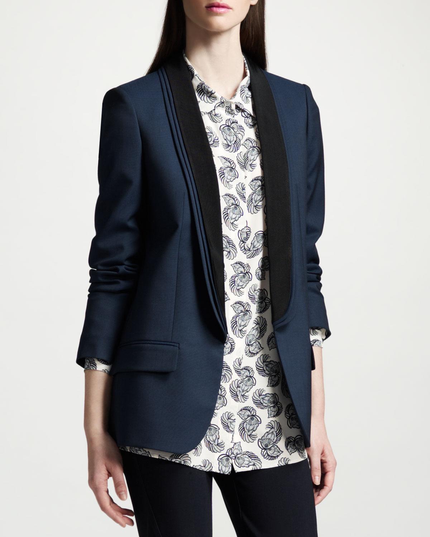 Lyst Stella Mccartney Layercollar Blazer In Blue