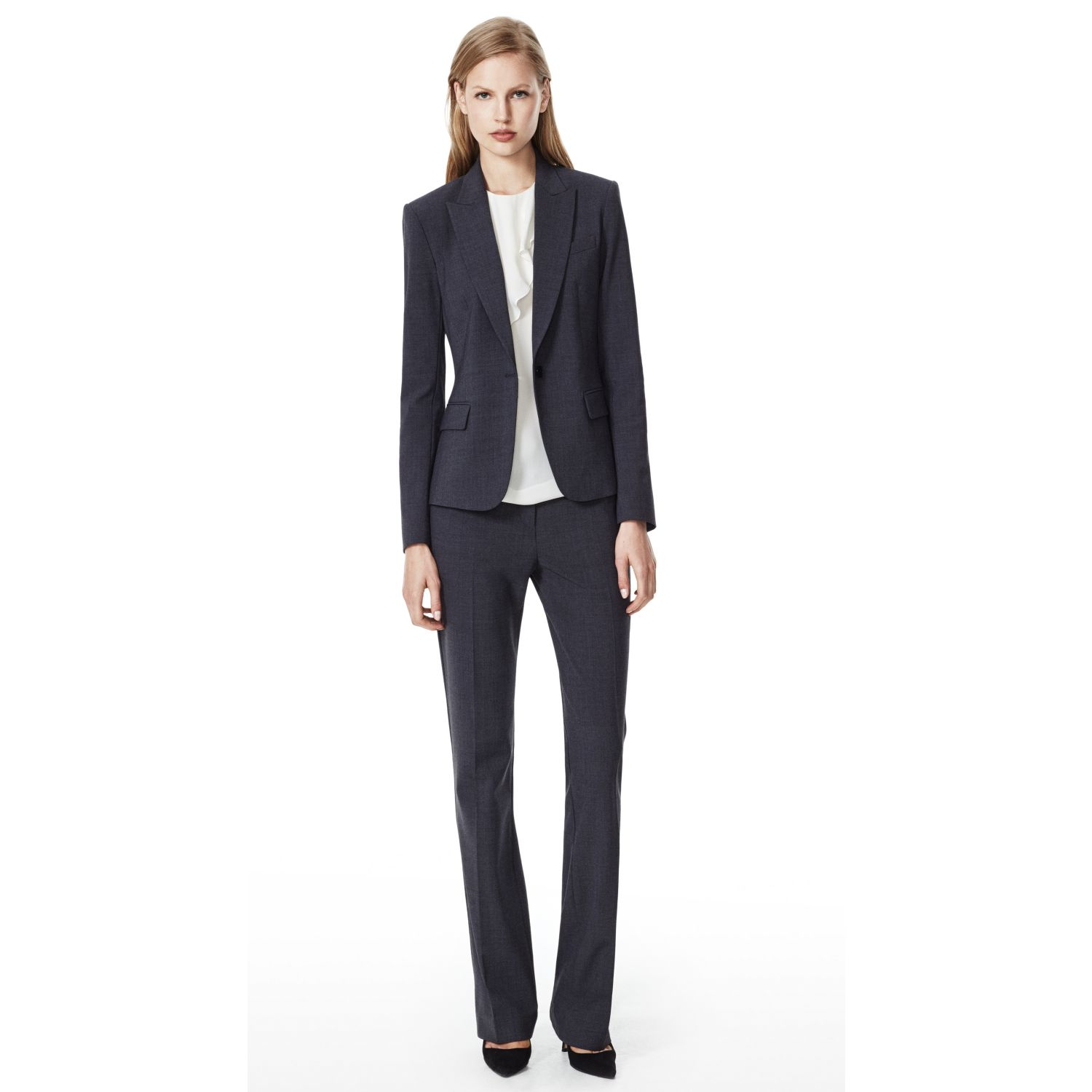 theory gabe b 2 blazer in urban stretch wool in gray lyst gallery
