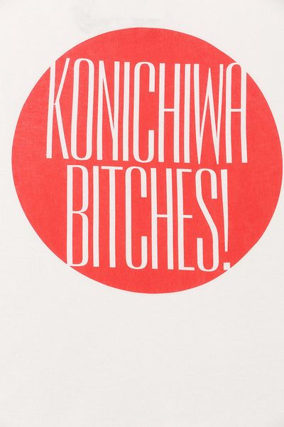 Urban Outfitters Five Crown Konichiwa Btches Tee In White