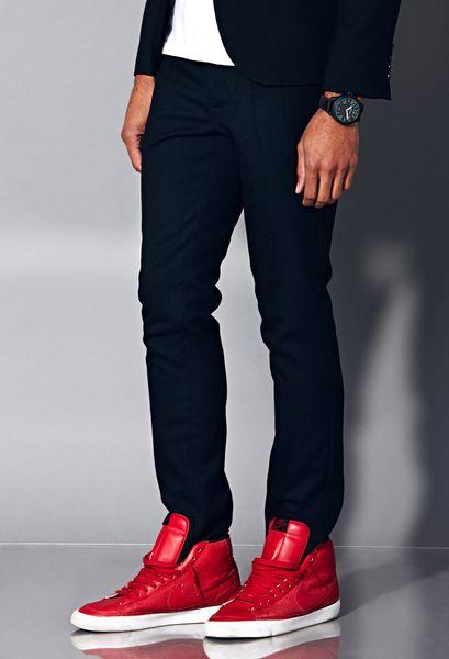 21men Crisp Dress Pants In Black For Men Lyst