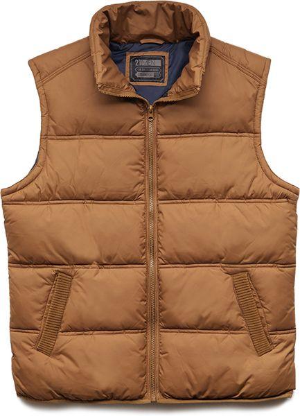 21men Favorite Puffer Vest In Gold For Men Lyst