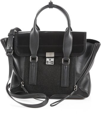 3.1 Phillip Lim Pashli Medium Glitterpaneled Satchel - Lyst