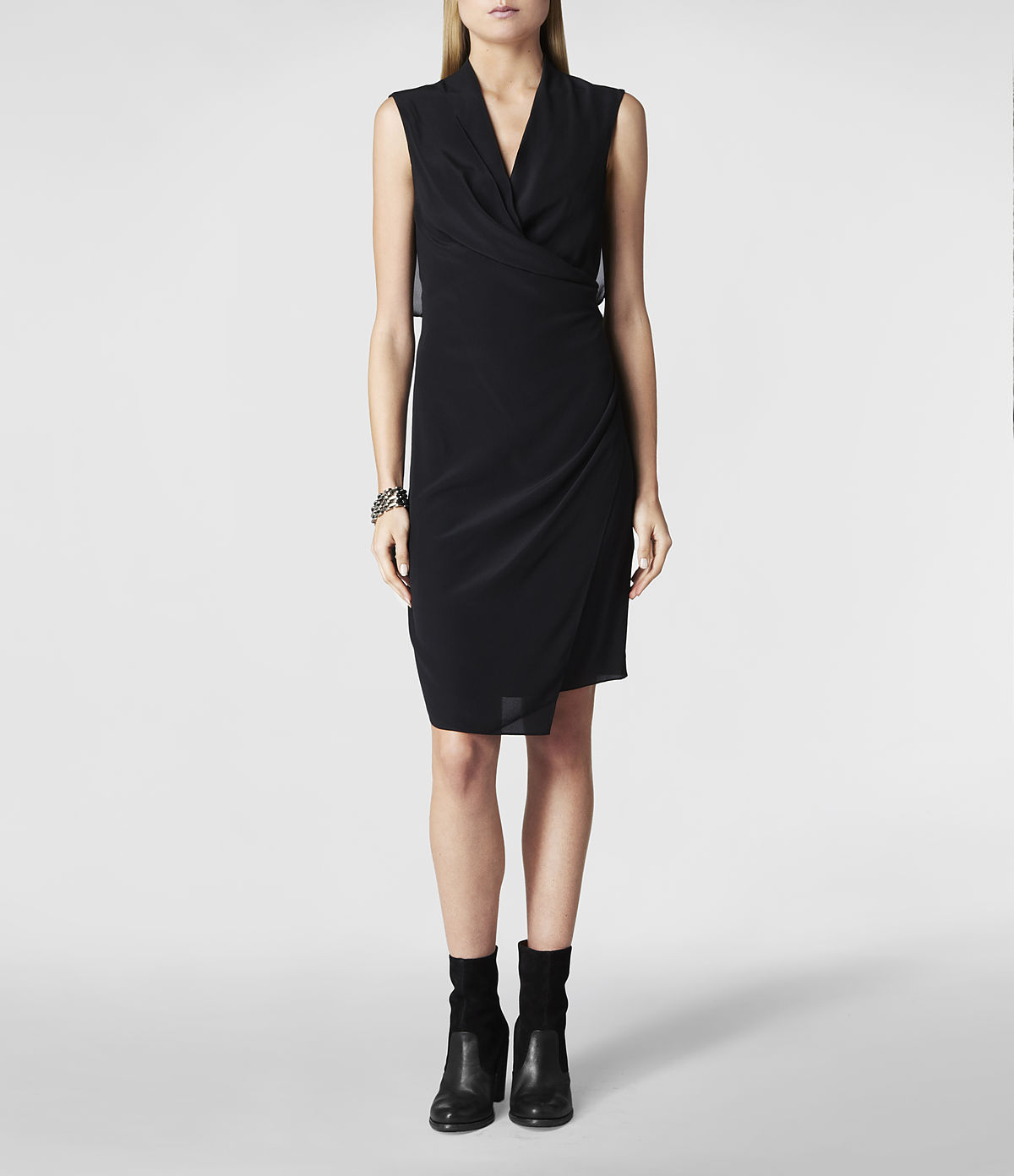 Lyst Allsaints Mayra Dress In Black