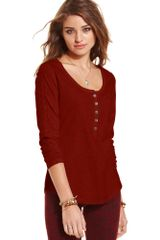 American Rag Long Sleeve Lace-trimmed - Lyst