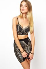 Asos Bra Top with Stud Embellishment - Lyst