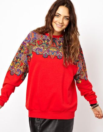 Asos Sweatshirt with Dragon Placement - Lyst