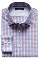 Banana Republic Slim Fit Non Iron Bold Plaid Shirt Red Parrot - Lyst