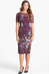 Black Halo Raylyn Garden Print Lace Sheath Dress - Lyst