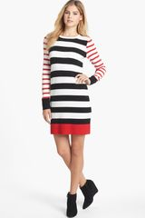 Eliza J Stripe Sweater Dress - Lyst