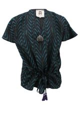 Figue Short Sleeve Ines Vneck Print Tunic - Lyst