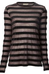 Giada Forte Striped Crew Neck T-shirt - Lyst