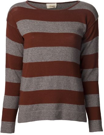 Giada Forte Striped Side Slit Sweater - Lyst