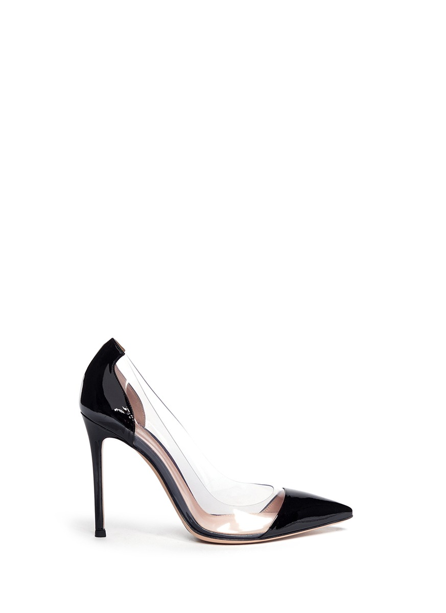 0b356213758 Lyst - Gianvito Rossi Clear Pvc Patent Leather Pumps in Black