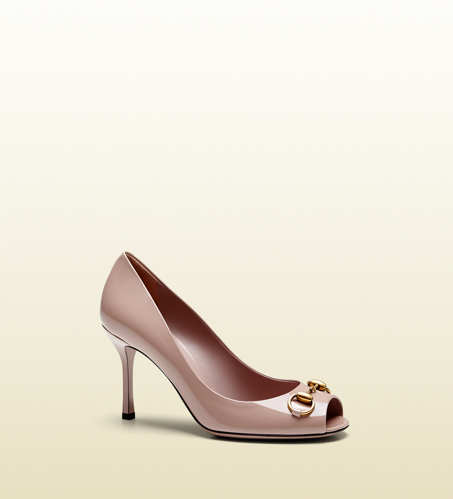 440a98cfbeb Lyst - Gucci Jolene Patent Leather Mid-heel Pump in Pink