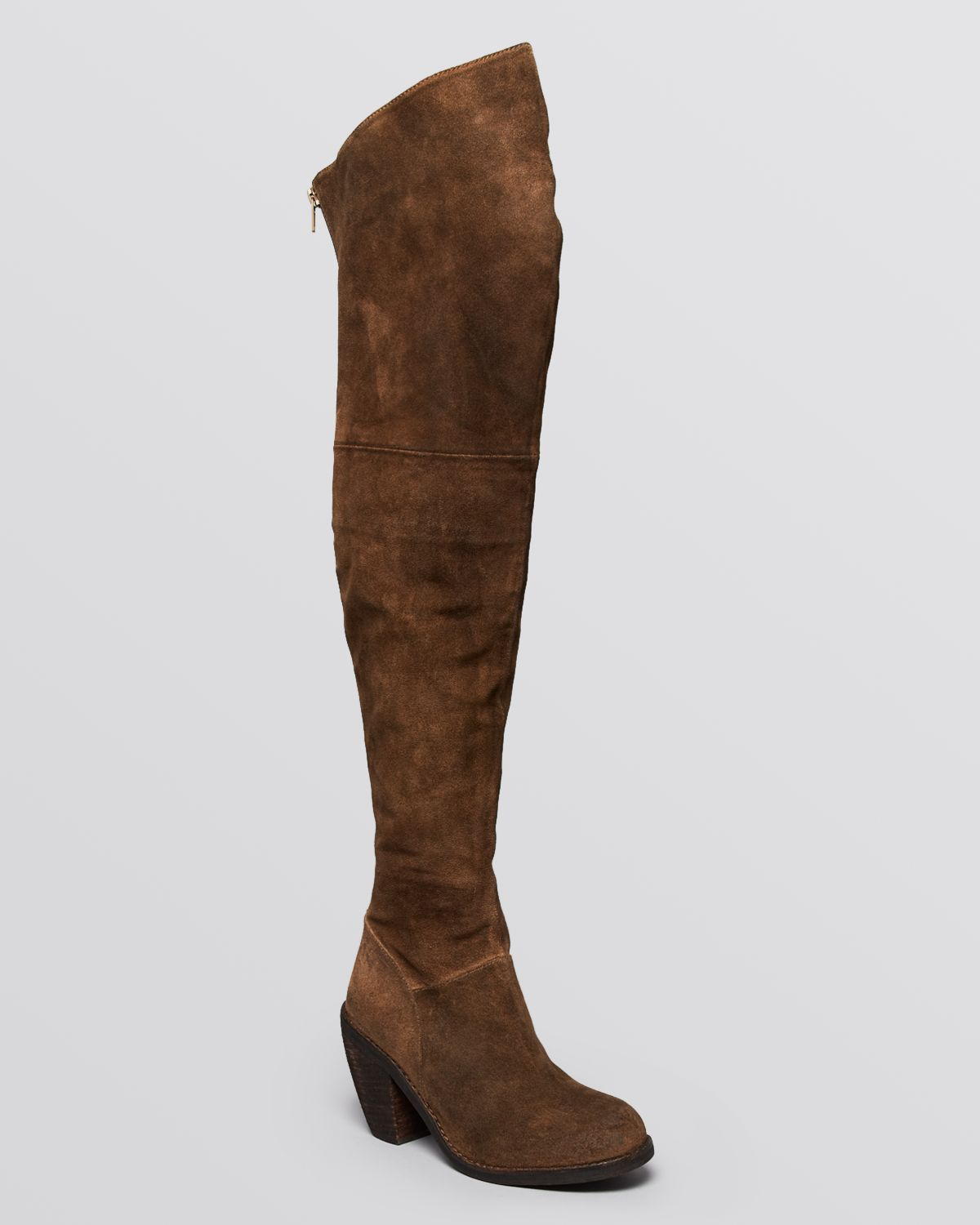 jeffrey cbell the knee boots oklahoma in brown