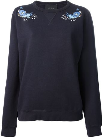 Lulu & Co Birdy Printed Sweatshirt - Lyst