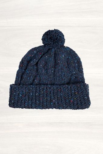 Mr Start Blue Ribbed Knit Beanie - Lyst