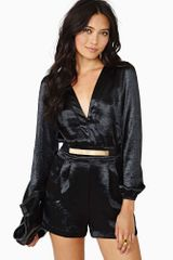 Nasty Gal Motel Bubble Romper Black - Lyst