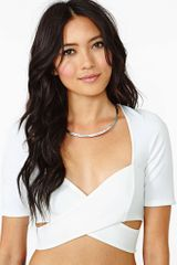 Nasty Gal Phantom Crop Top - Lyst