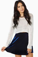 Nasty Gal Oracle Velvet Skirt - Lyst