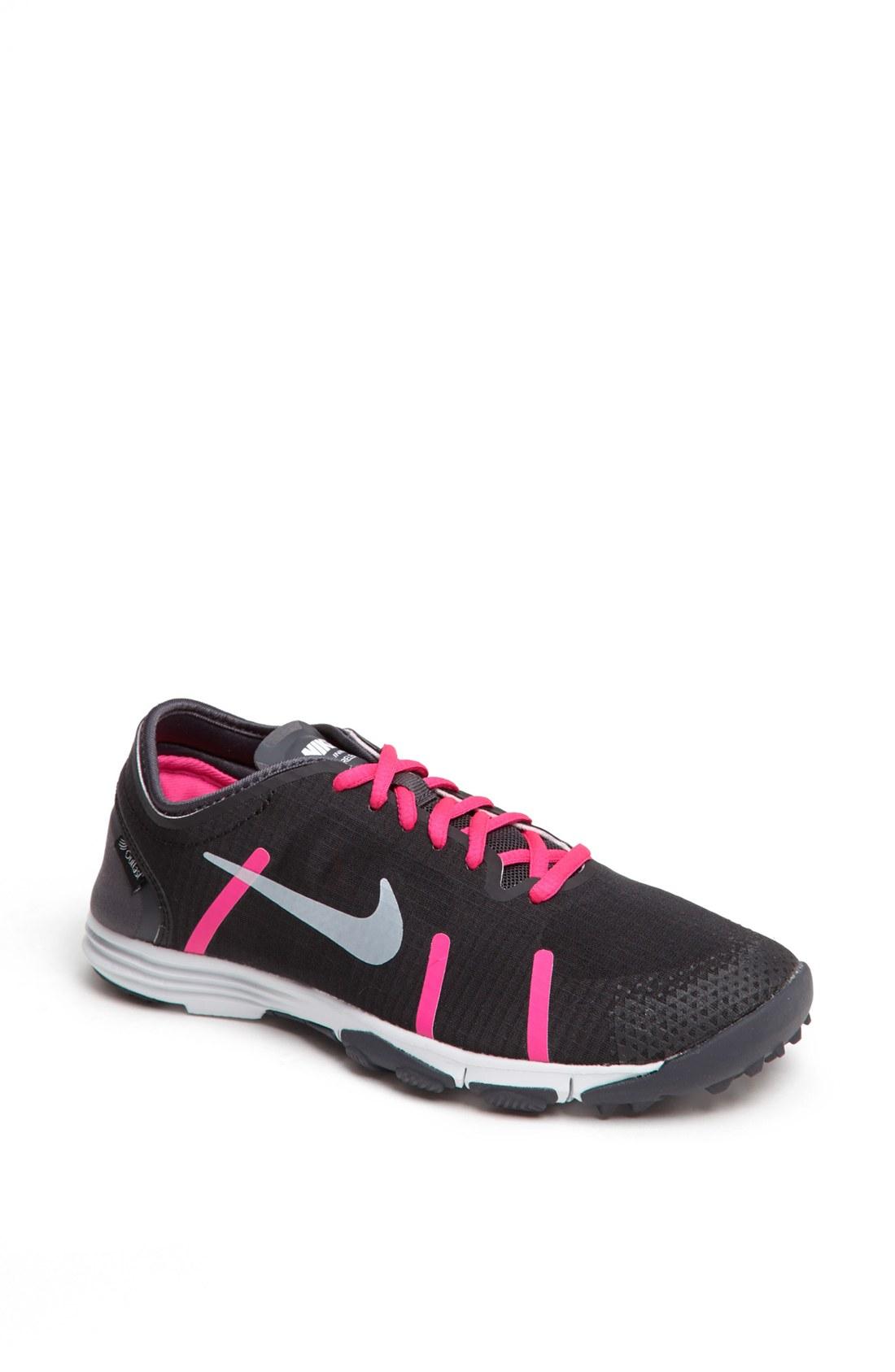 nike lunarelement shoe in pink black pink