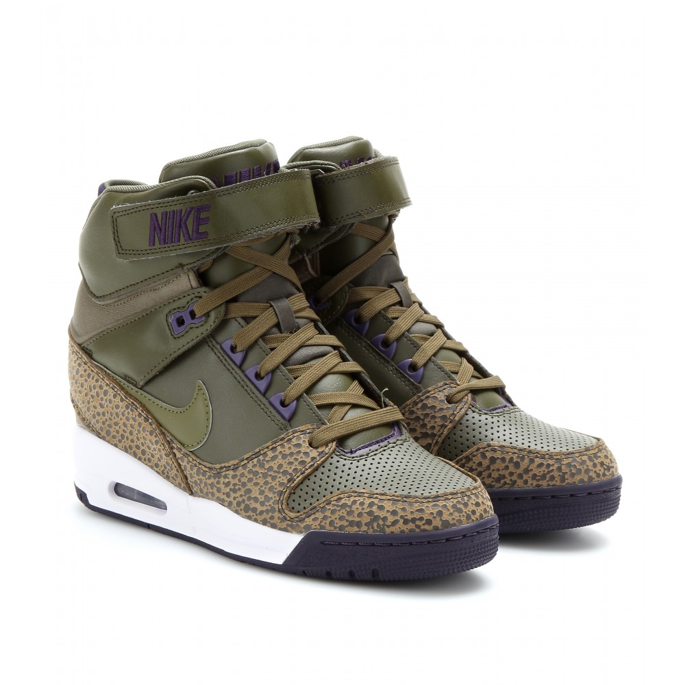 official photos fe7e9 b51ea Nike Air Revolution Sky Hi Wedge Sneakers in Brown - Lyst