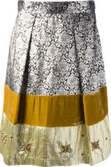P.a.r.o.s.h. Brocade Panel Skirt - Lyst