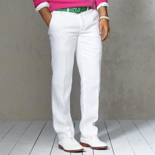 Mens Drawstring Linen Trousers