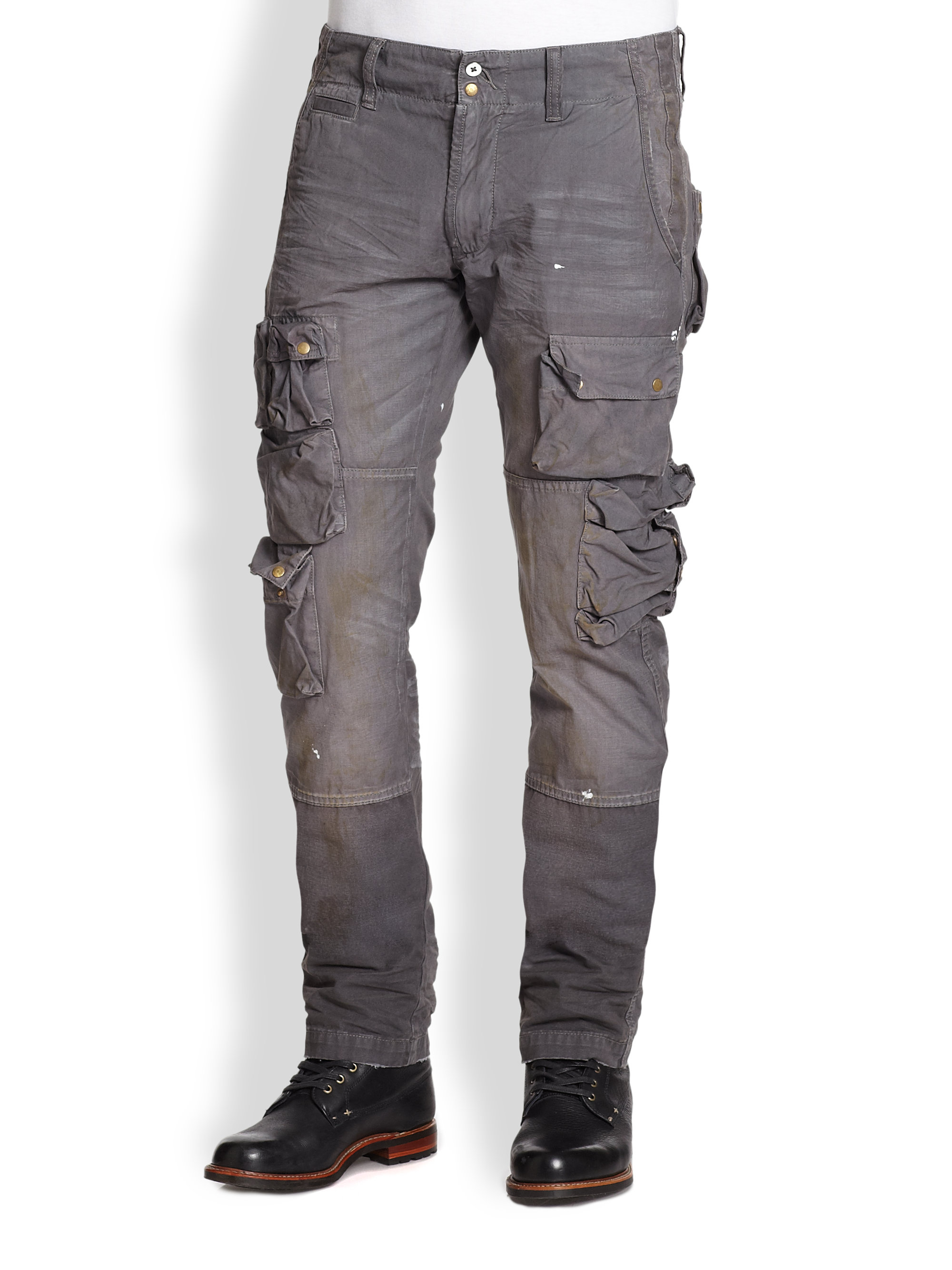 Prps Cotton Cargo Pants in Gray for Men | Lyst