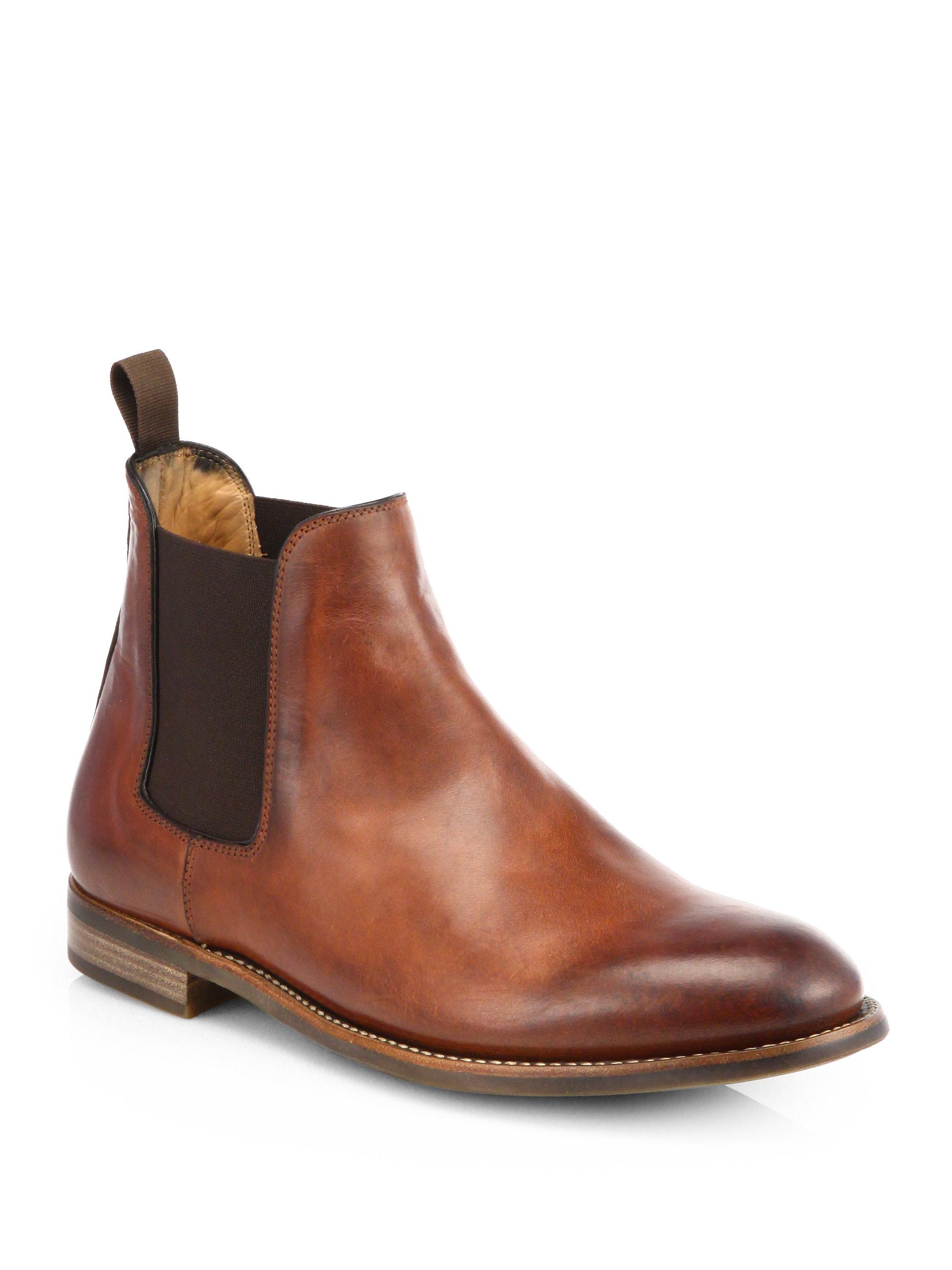 Ralph Lauren Godstl Chelsea Boots In Brown For Men Lyst