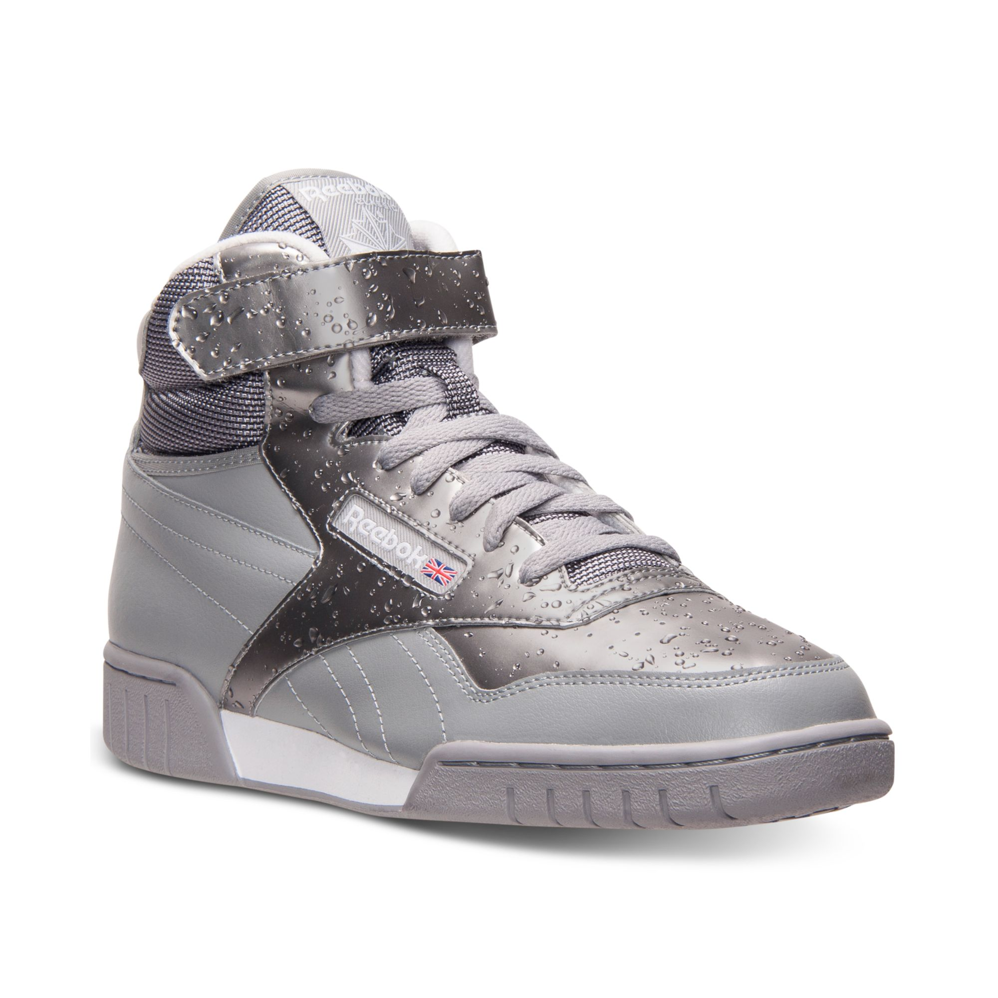lyst reebok ex o fit mid wt casual sneakers in gray for men. Black Bedroom Furniture Sets. Home Design Ideas
