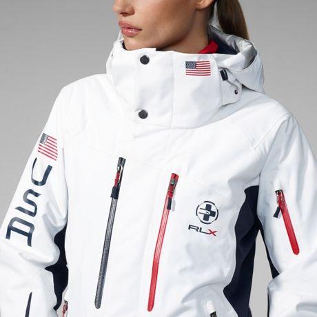 Rlx Ralph Lauren White Vail Ski Jacket In Blue Lyst