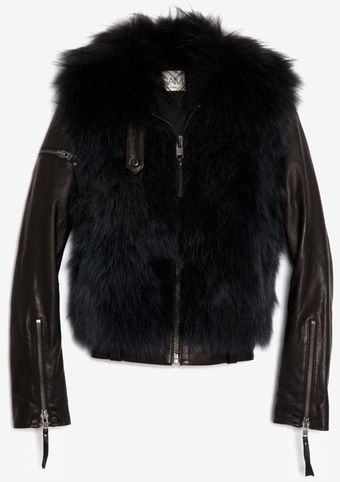 Sam. Fox Vest with Zip Off Leather Sleeves - Lyst