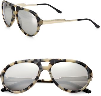 Stella McCartney Metal Plastic Aviator Sunglasses - Lyst