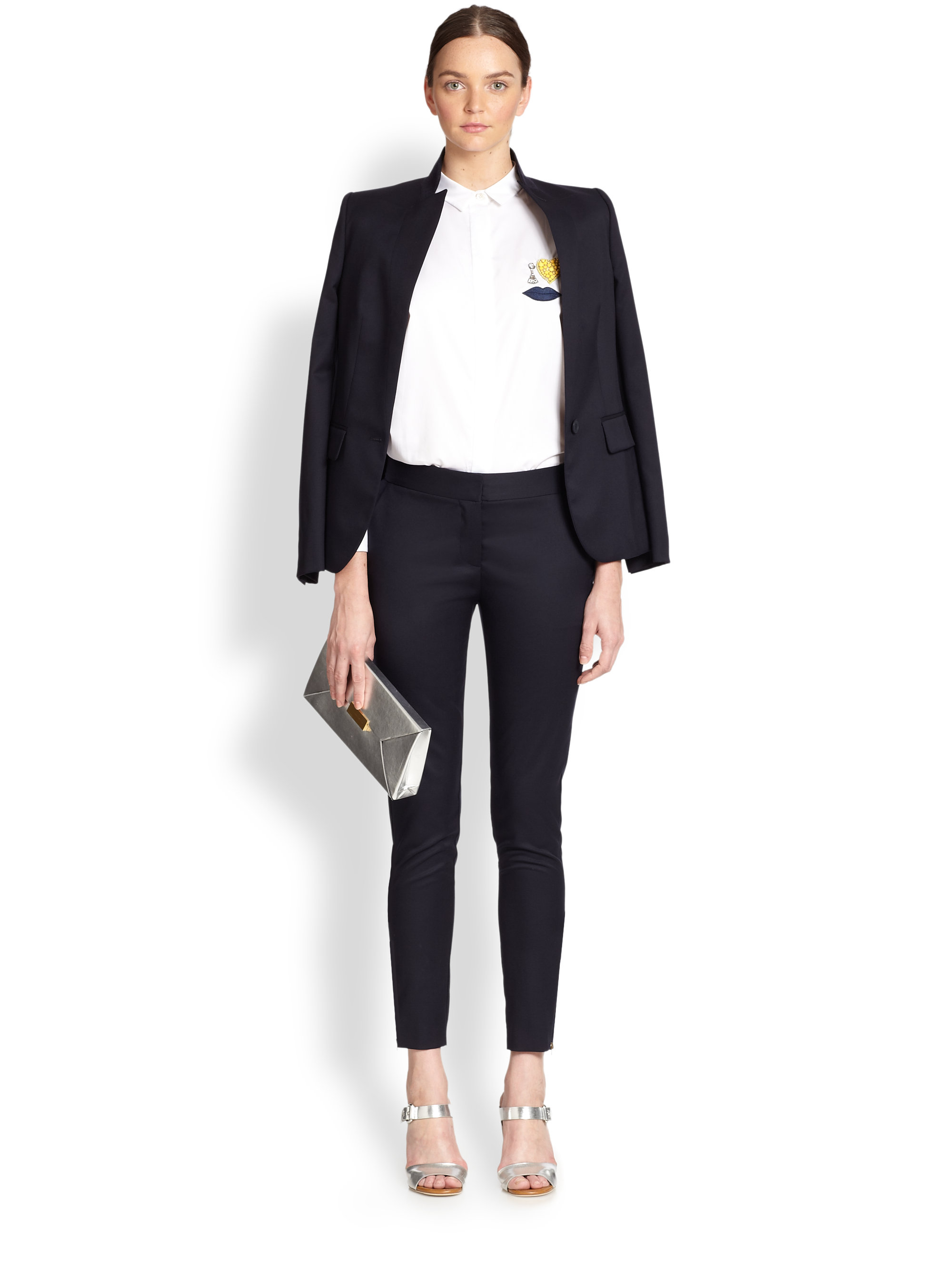 Stella mccartney Tuxedo Suit Jacket in Blue