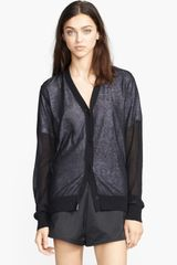 T By Alexander Wang Lined Knit Cardigan - Lyst