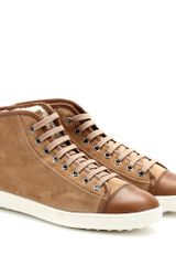 Tod's Shearlinglined Suede Hightops - Lyst
