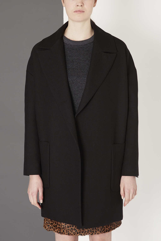lyst topshop oversized blazer by boutique in black. Black Bedroom Furniture Sets. Home Design Ideas