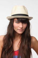 Urban Outfitters Braided Straw Trilby Hat - Lyst