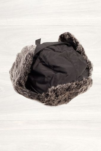 Woolrich Black Arctic Cap with Fur Trim - Lyst