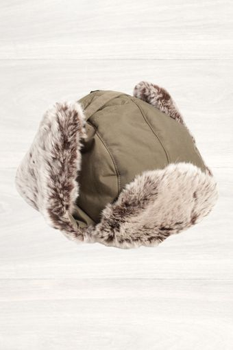 Woolrich Khaki Arctic Cap with Fur Trim - Lyst