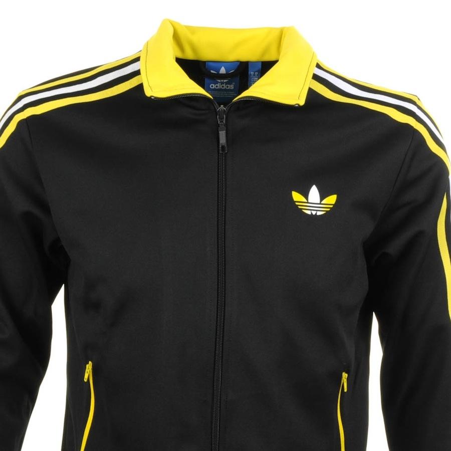 adidas originals firebird track top in schwarz für männer lyst