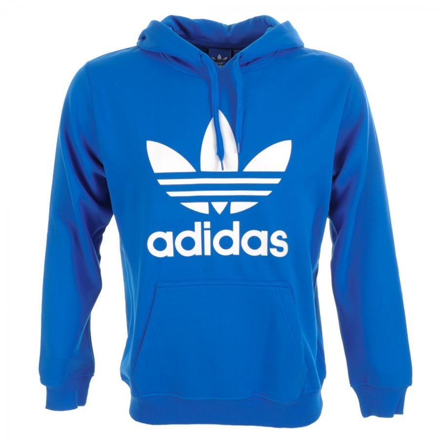 Adidas Originals Trefoil Hooded Jumper In Blue For Men Lyst